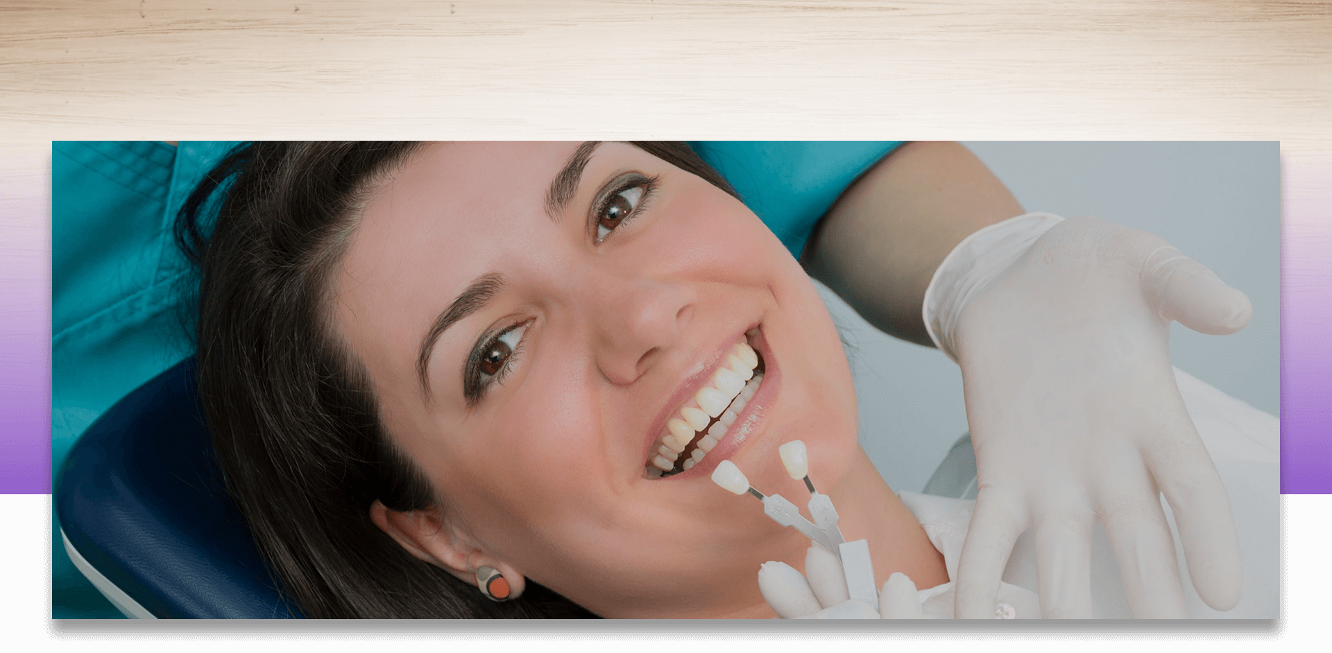 A patient checking Porcelain Teeth