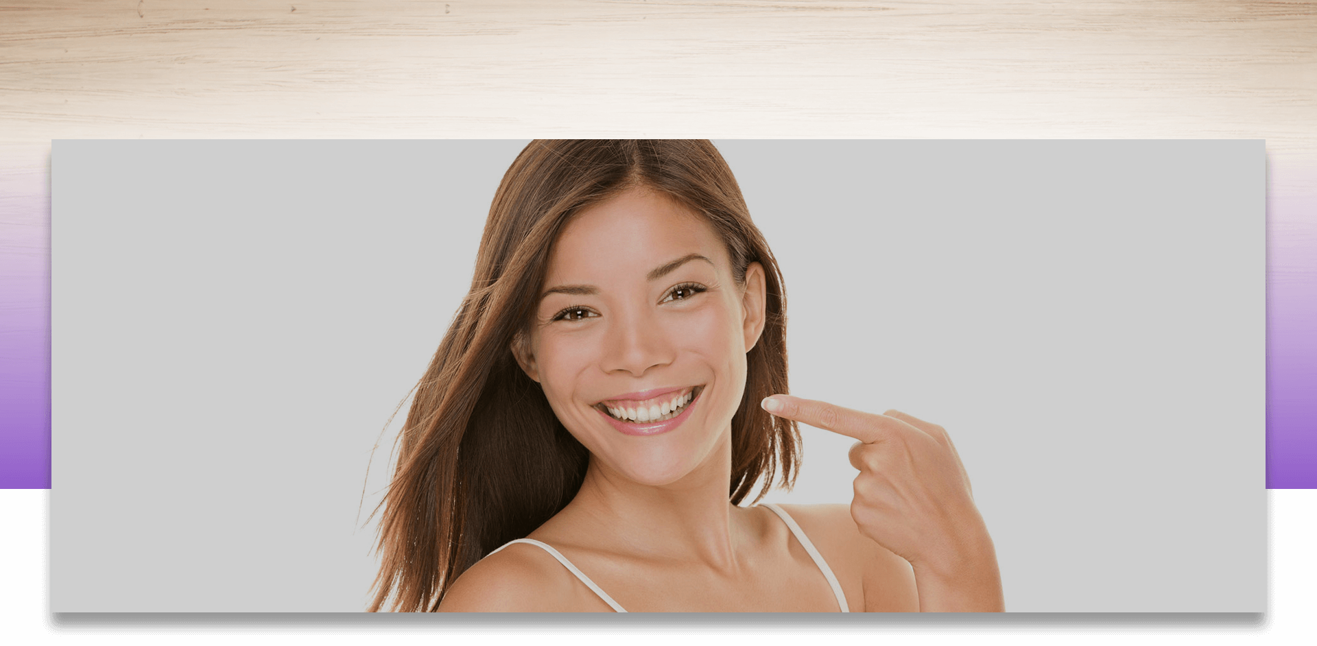 Woman showing her perfect white teeth